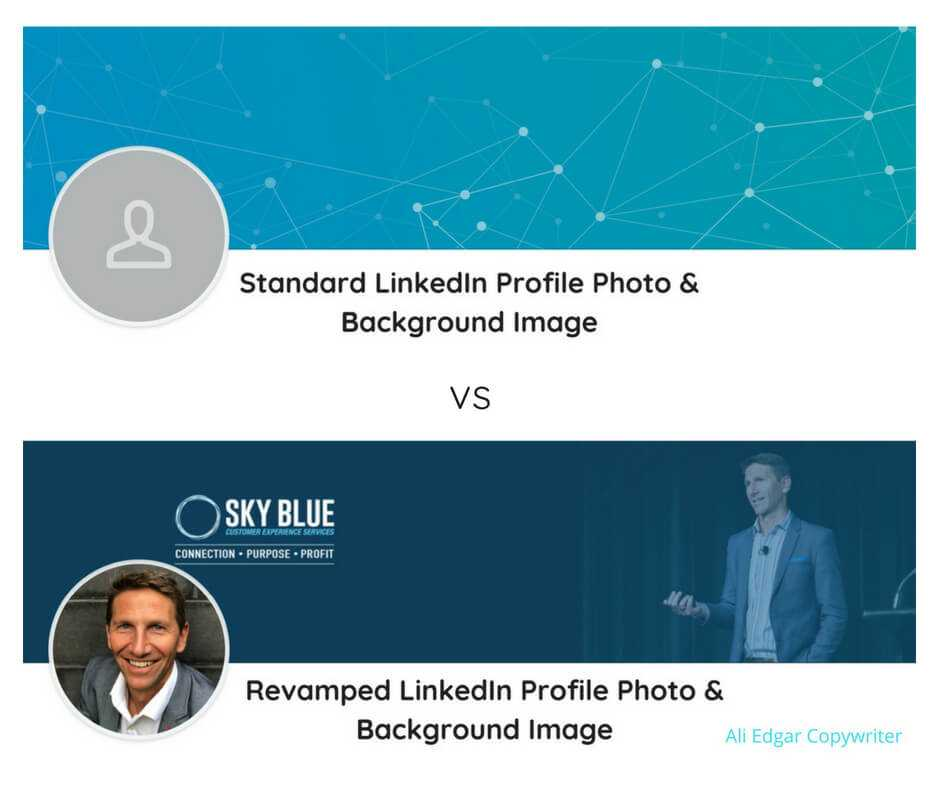 LinkedIn Background Image before and after, and the reason why you need a background image